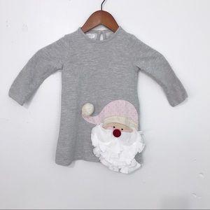 Mud Pie Santa Clause Gray Shimmer Dress
